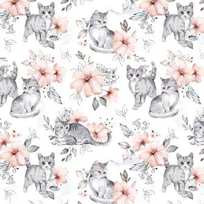Floral Cats - TINY