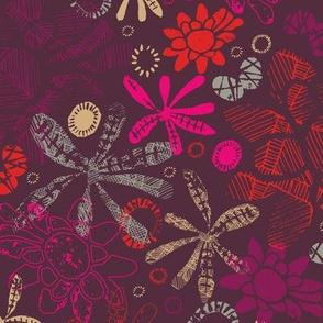 Block Print Floral Scatter