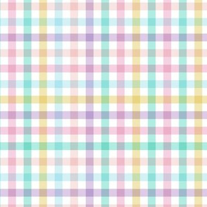 Little spring and easter vibes plaid check design minimalist basic checkered squares in red lilac blue and yellow girls