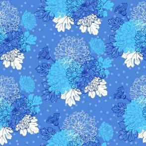 Decorative chrysanthemum - blue