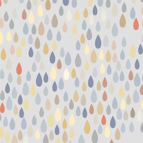 rain pattern, colored rain, drops, colored drops, multicolor pattern, spring pattern, weather, precipitation, soft colors, soft palette, kids pattern, kids room, kids, children.