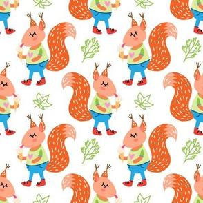cute squirrels pattern