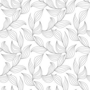 Elegant leaves - white