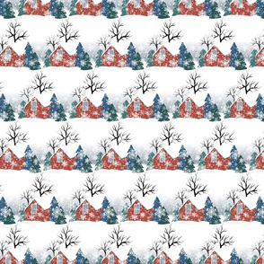 houses, vintage christmas, countryside, vintage houses, snowy village, house roofs, winter holidays, small town, christmas country, winter, winter pattern, рождество праздники, merry christmas, village