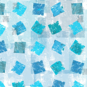 Small Squares Grid Teal