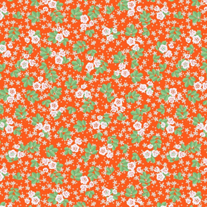 quilt pattern, quilt flowers, orange, roses, rose pattern, rose flowers, flowered granny chic, granny chic pattern, granny chic design, flower design, quilt chintz, flower chintz, granny chic dress