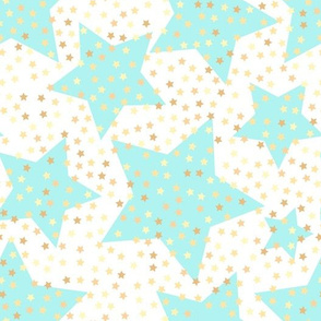 baby nursery, nursery, Baby, stars, sky, sparkling stars, Baby pattern, delicate, turquoise, turquoise white, soft, starry sky, starry