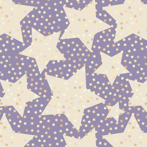 starry sky, hollywood, retro, purple, stars, sky, starry pattern, retro hollywood, trendy, night sky, golden stars, starry, bedroom