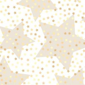 white beige stars, kids stuff, baby nursery,  children soft pastel glitter joyful kids room vanilla sky golden sequins