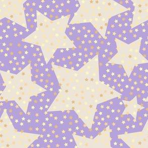 starry sky, kids room, kids, purple, stars, sky, star pattern, kids pattern, pastel, baby sky, golden stars, soothing, nursery