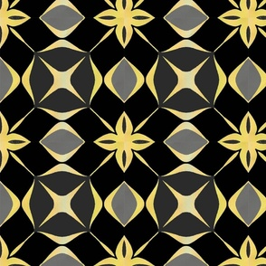Tile black and gold