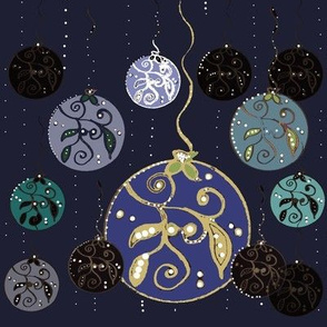 Festive Balls - Blues On Midnight Blue