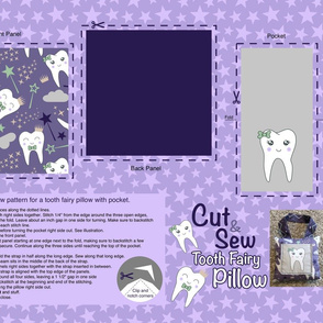 cut and sew tooth pillow - pocket