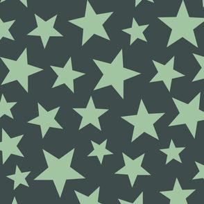 scattered stars - green