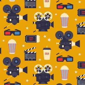 Cinema retro - yellow