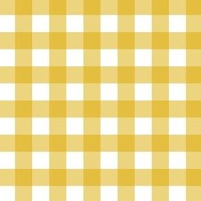 Gingham - Mustard - Half Inch Check
