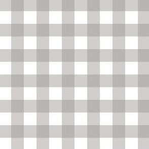 Gingham - Grey - Half Inch Check