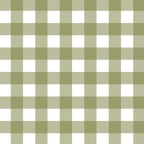 Gingham - Olive - Half Inch Check