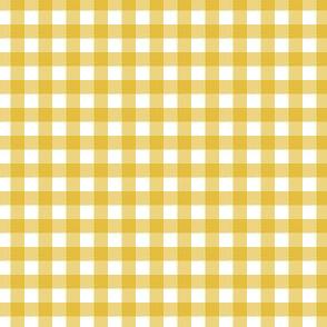 Gingham - Mustard - Quarter Inch Check