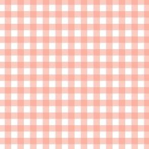 Gingham - Peach - Quarter Inch Check
