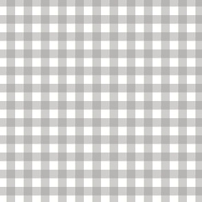 Gingham - Grey - Quarter Inch Check