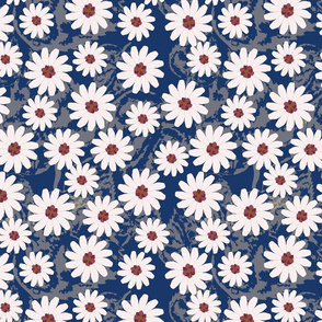 Daisy Carpet Blue