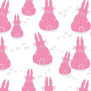 Pink Bunny Rabbit Winter Day