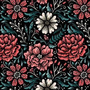 Lamb Illustration's Pink Peonies Pattern