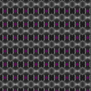 Joshua Nostril & cheek in black, purple & grey