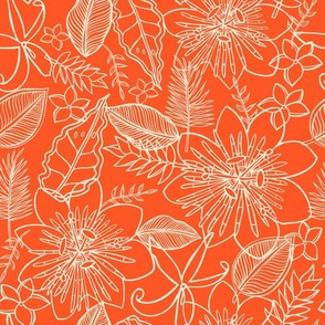 Tropical Vacation in sunset orange