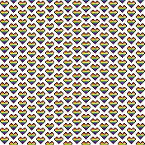 pixel heart (rainbow stripe)