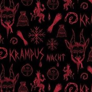 Krampus Chalkboard Scribbles