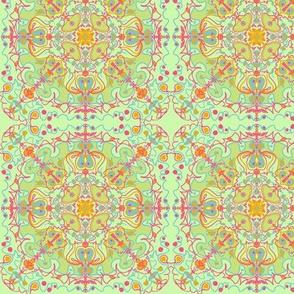 Swirl Sunny Floral Mint Orange
