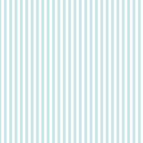 Small Light Cyan Bengal Stripe Pattern in Vertical in White