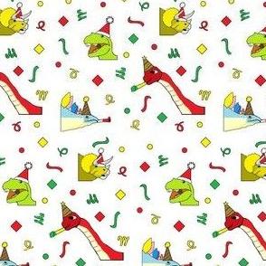 Christmasaurus White Mini
