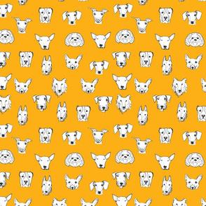 Best Friends - My Pet Dog Illustration - Gold