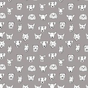 Best Friends - My Pet Dog Illustration - Grey