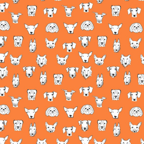 Best Friends - My Pet Dog Illustration - Orange