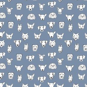 Best Friends - My Pet Dog Illustration - Smoky Blue