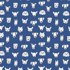 Best Friends - My Pet Dog Illustration - Royal Blue