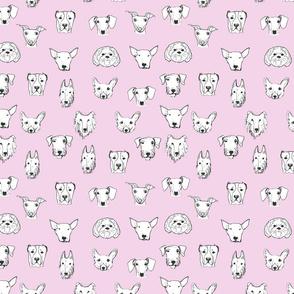 Best Friends - My Pet Dog Illustration - Light Pink
