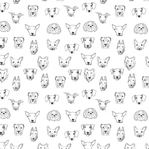 Best Friends - My Pet Dog Illustration - White
