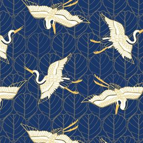 Cranes Blue