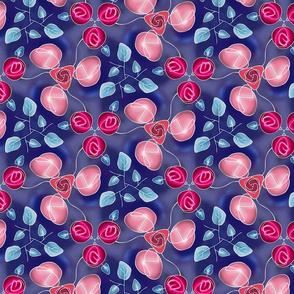 rose garden blue
