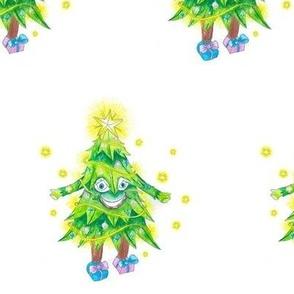 Happy Green Christmas Tree