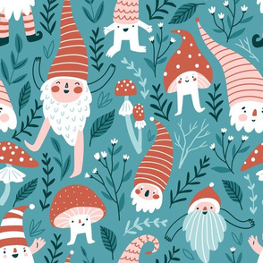 Gnomes and mushrooms (big scale)