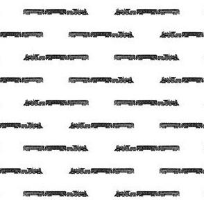 Steam Engine Train with Train Cars (Mini Scale)