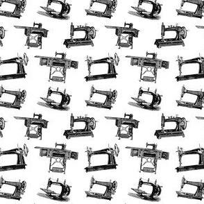 Antique Sewing Machines in Black & White (Mini Scale)