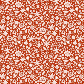 Tiny floral, red