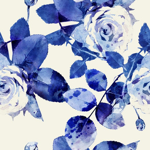 blue roses large